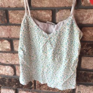 One of kind pastel floral take top